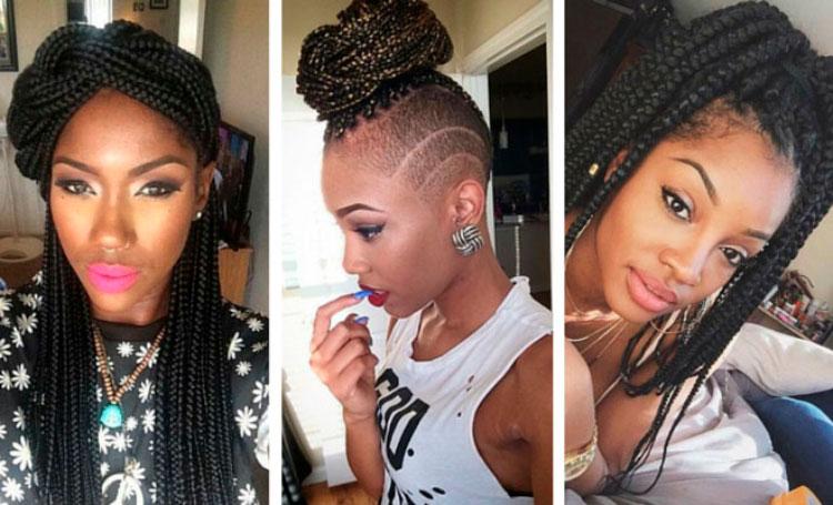 Box braids cabelos